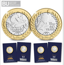 2018 MIKE HAILWOOD ISLE OF MAN TT TWO POUNDS £2 COINS - BUNC LTD EDITION SET