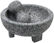 Authentic Mexican Molcajete Lava Rock Granite and Pestle Spice Grinder Guacamole