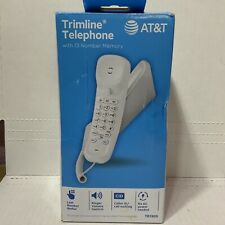 📀 AT&T Trimline Telephone Corded Phone with Caller ID - White
