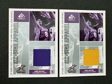 2002-03 KOBE BRYANT UPPER DECK SP GAME USED ALL-STAR APPAREL JERSEY LOT 2 #KB-AS