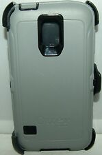 New! Otterbox Defender Series case &  belt clip for Samsung Galaxy S5 Gray/Black