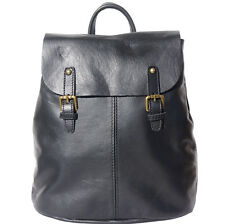 Borsa a Zainetto Cuoio Pelle Leather Backpack Purses Italian Made In Italy 3010n