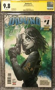 Domino #1__CGC 9.8 SS__Signed by Zazie Beetz (actress in Deadpool 2)