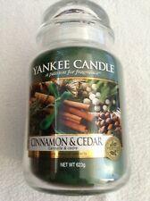 Yankee candle 'Cinnamon & Cedar' large jar