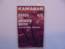 Kamasan b940m aberdeen match hooks size 4/0 .
