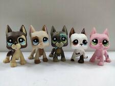 5Pcs/Lot  Littlest Pet Shop LPS Great Dane  Dogs Christmas Gift