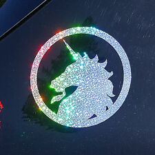 Sparkly Rainbow Glitter Unicorn - Decorative Film Decal