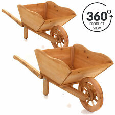 Wooden Flower Plant Wheelbarrow Planters Boxes Ebay