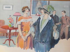 Vintage Art Deco Style Advertising Poster Devoe Paint And Varnish Linen Backed