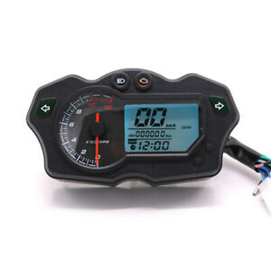 1x Motorcycle LCD Digital Speedometer Tachometer Odometer Gauge DC12V Universal