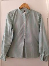 MARGARET HOWELL Mint Green Striped Cotton Shirt Size XS / 8