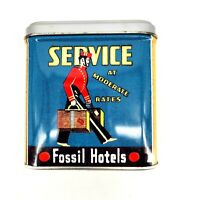 Vintage Fossil Metal Tin Box Fossil Hotels Associated Federal Hotel & Cafe 1998