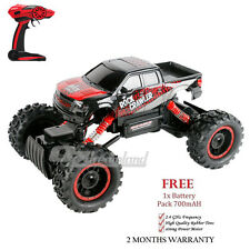 2.4G RC Car 1/14 Remote Control 4WD Off Road Monster Truck Rock Crawler 2battery