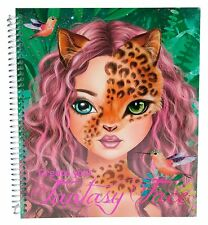 TOP Model Create Your Fantasy Face Colouring Book