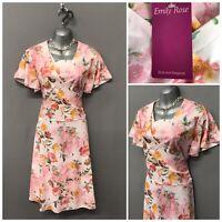 BNWT Emily Rose Pink Floral Dress UK 18 EUR 46 US 14