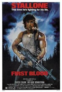 Rambo: First Blood 27x40 Movie Poster (1982)