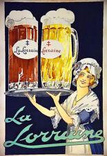 Verre la Lorraine Bière Bier pub bar deco art POSTER print