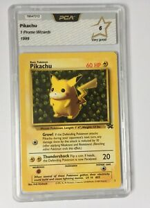 PCA 6 - Pikachu - 1999 Pokemon Black Star Promo - 1 - English - like PSA