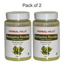 Herbal Hills Bel patra or Bael leaf / Bilva Powder 100g - Pack of 2 - bottle