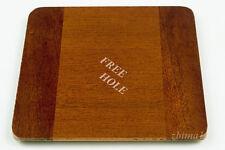 "1 Lens Board 4.5""sq. RC for Deardorff, Solid Mahogany, Undrilled&free hole"