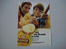 advertising Pubblicità 1969 FORMAGGIO RAMEK KRAFT