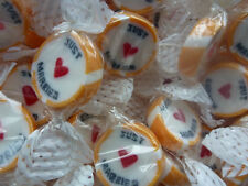 GOLD JUST MARRIED ROCK SWEETS WEDDING FAVOURS X170