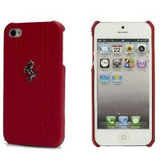 Ferrari Leather Back Cover Case for iPhone 5/5s/SE – FEFFHCP5RE