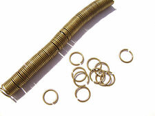 Raw Brass Jump Rings Jumpring Connectors, 7mm -100 Qty