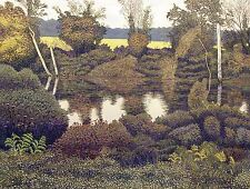 """Gordon Mortensen """"Maryland In Early Fall"""" Hand Signed Color Woodcut Fine Artwork"""