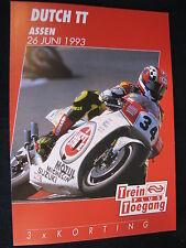 Flyer NS (Nederlandse Spoorwegen) TT Motorraces Assen 26 juni 1993  (TTC)
