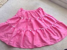 Lilly Pulitzer Hot Pink Sz 0 Skirt Sequin Silk Vintage Retro Sexy Dancer Club