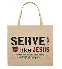 Serve with a Heart Like Jesus Tote Bag (YC366) NEW