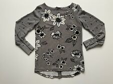 Next Ladies Flowery Long Sleeves Tunic Size 6