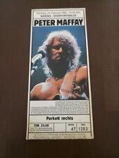 Alte Konzertkarte Ticket Peter Maffay 1986 Kassel