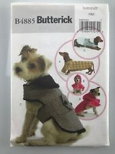 Butterick Sewing Pattern New B4885 Dog Coats