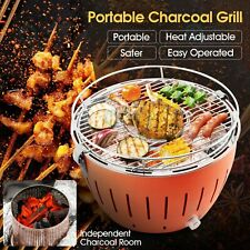 Portable Charcoal Grill Smokeless Stainless Steel Barbecue Camping Roaster&BBQ