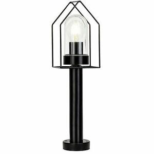 Outdoor Garden Light Lamp Lighting Home Black Glass IP44 NEW (K)