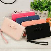 Fashion Women Leather Wallet Purse Long Handbag Clutch Phone Card Holder Bag PS