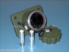 Starthilfe NATO-Steckdose grün nach VG 96917 G, mit Deckel an Seil, bis 42 Volt