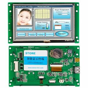 4.3 Inch 480*272 GUI Industrial TFT LCD Panel with UART port and High Resolution