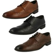 Brogues 100% Leather Upper Shoes for Men Pointed