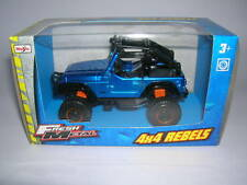 Maisto FRESH METAL 4 x 4 Rebels JEEP FUORISTRADA BLU BLUE 11,5 cm