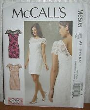 Womens/Misses Lined Lace Evening Dress Sewing Pattern/McCall's M6505/SZ 6-14/UCN