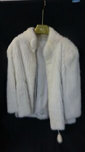 Lovely Mid Length Ladies White Mink Coat