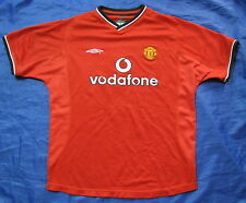 MANCHESTER-UNITED Home Shirt jersey UMBRO-2000-2002 SIZE L.Boys (XS adults) 32''