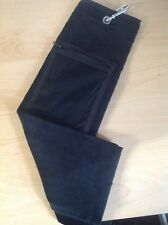 Black Velour Tri-Fold Golf Towel with Zip Pocket