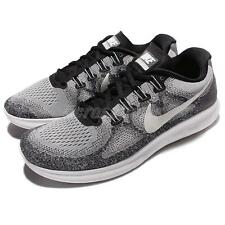 083d099331eb Nike RN 2017 Mens 880839-002 Wolf Grey White Knit Running Shoes Size 10