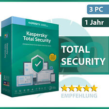 Kaspersky Total Security 2021 3 Geräte oder PC - 1 Jahr - Key sofort per Email