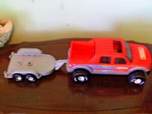 "Tonka plastic truck and trailer 28"" long"