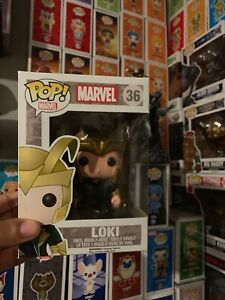 Funko Pop! Vinyl Marvel Loki #36 2014 Vaulted Rare Collectors